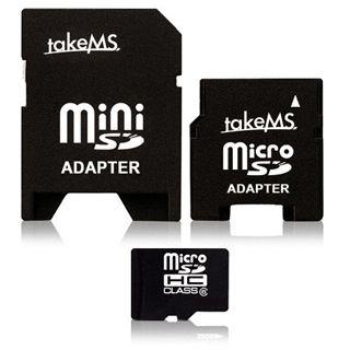 16 GB takeMS microSDHC Class 6 Retail inkl. 2 Adapter