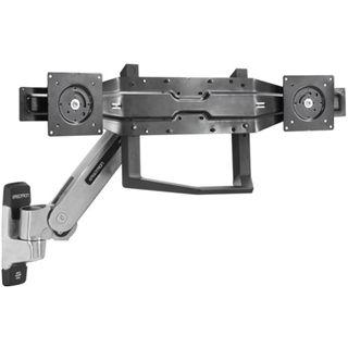 Ergotron Dualmonitor und Griff-Kit Wandhalterung schwarz