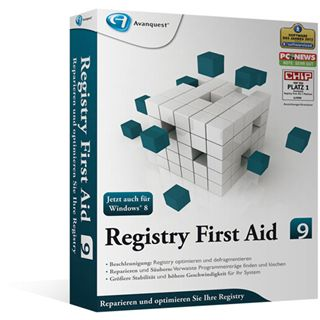 Avanquest Registry First Aid 9.0 32/64 Bit Deutsch Utilities Vollversion PC (DVD)