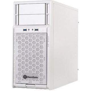 Silverstone Precision PS08 Mini Tower ohne Netzteil weiss