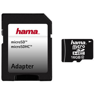 16 GB Hama Tablet-PC microSDHC Class 10 Retail inkl. Adapter