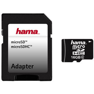 16 GB Hama Flash microSDHC Class 6 Retail inkl. Adapter