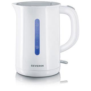 Severin WK 3412 Wasserkocher 2200W, 1,5l weiß/grau