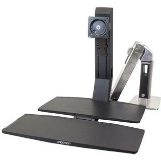 Ergotron WorkFit-A Tischhalterung schwarz/silber