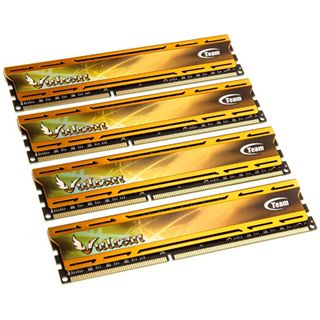 16GB TeamGroup Vulcan Series gold DDR3-1600 DIMM CL9 Quad Kit