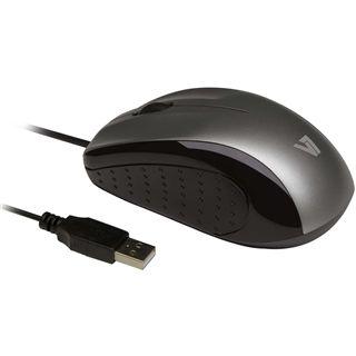 V7 Optische Maus USB schwarz/silber (kabelgebunden)