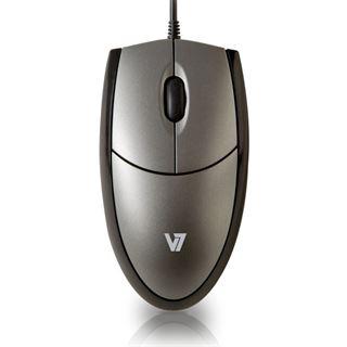 V7 Full Size Optical Mouse USB schwarz/silber (kabelgebunden)