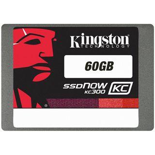 "60GB Kingston KC300 2.5"" (6.4cm) SATA 6Gb/s MLC asynchron (SKC300S37A/60G)"