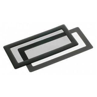 DEMCiflex 2x 40mmx111mm Staubfilter für Gehäuse (2x40mm Type2 black mesh/magnes)