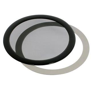 DEMCiflex 120mm rund schwarz Staubfilter für Gehäuse (120mm Round black mesh)
