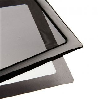 DEMCiflex 240mm schwarz Staubfilter für Radiator (2x120mm Square black mesh/magn)