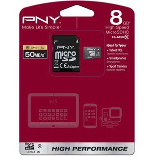 8 GB PNY Premium microSDHC Class 10 Retail
