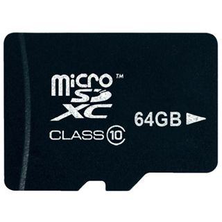 64 GB Platinum BestMedia microSDXC Class 10 Retail inkl. Adapter auf