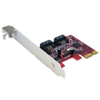 Startech PCI Express Schnittstellenkarte SATA III 2 Port PCIe 2.0 x1 retail