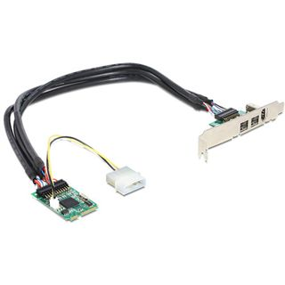 Delock 95236 3 Port PCIe Mini Card retail