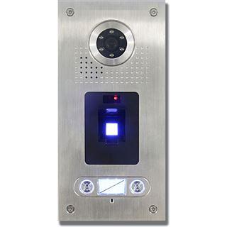 AE Farb-Videotürsprechanlage m. Fingerprint für 2 Familien