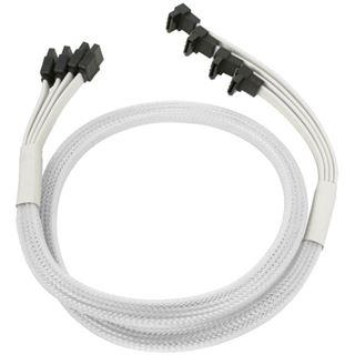 Nanoxia weißes 4-fach Kabel für SATA 3.0 (NXS6GWH)