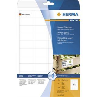 Herma 10914 extrem stark haftend Universal-Etiketten 4.83x2.54 cm (25 Blatt (1100 Etiketten))