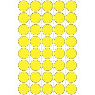 Herma 2251 gelb rund Vielzwecketiketten 1.9x1.9 cm (32 Blatt (1280