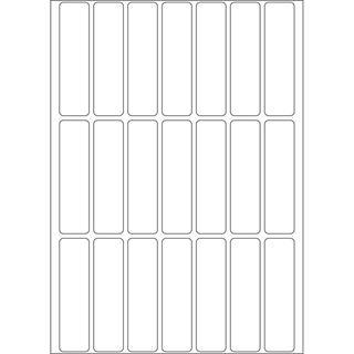 Herma 2370 Vielzwecketiketten 1.3x5 cm (32 Blatt (672 Etiketten))