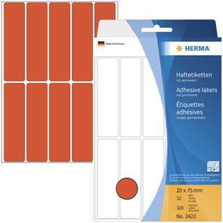 Herma 2422 rot Vielzwecketiketten 2x7.5 cm (32 Blatt (320 Etiketten))