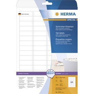 Herma 4201 ablösbar Sichtreiteretiketten 4,85x1,69 cm (25 Blatt (1600 Etiketten))