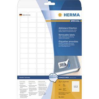 Herma 4211 Universal-Etiketten 2.54x1.69 cm (25 Blatt (2800