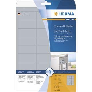 Herma 4222 Typenschild-Etiketten 6.35x2.96 cm (25 Blatt (675 Etiketten))