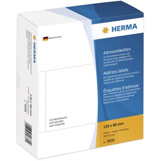 Herma 4331 einzeln Adressetiketten 13x8 cm (500 Stück )