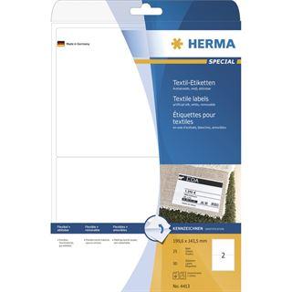 Herma 4413 ablösbar Textiletiketten 19.96x14.35 cm (25 Blatt (50