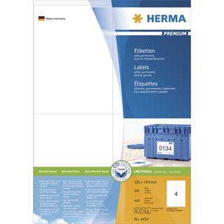 Herma 4454 Premium Universal-Etiketten 10.5x14.4 cm (100 Blatt (400
