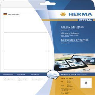 Herma 4907 Universal-Etiketten 9.6x6.35 cm (25 Blatt (200 Etiketten))