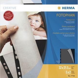 Herma Fotokarton 320 x 315 mm schwarz 5 Blatt
