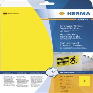 Herma 8033 strapazierfähig Signal-Schilder 21.0x29.7 cm (25