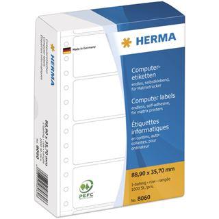Herma 8060 weiß Computeretiketten 8.89x3.57 cm (1000 Stück)