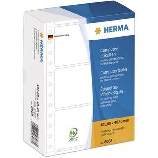 Herma 8068 weiß Computeretiketten 10.16x4.84 cm (1000 Stück)