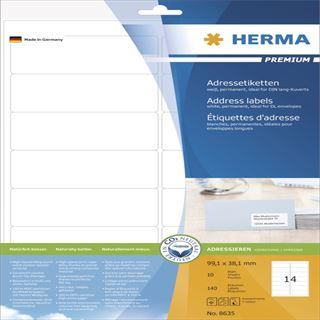 Herma 8635 premium Adressetiketten 9.91x3.81 cm (16 Blatt (640