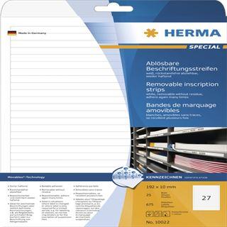 Herma 10022 Beschriftungsstreifen 19.2x10 cm (25 Blatt (675 Etiketten))