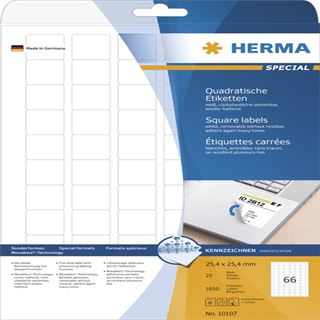 Herma 10107 quadratisch ablösbar Universal-Etiketten 2.54x2.54