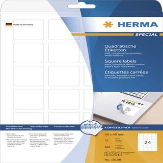 Herma 10108 quadratisch ablösbar Universal-Etiketten 4x4 cm (25