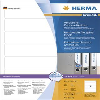 Herma 10140 ablösbar blickdicht Ordneretiketten 19.2x3.8 cm (100