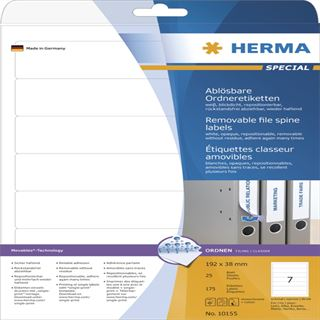 Herma 10155 ablösbar blickdicht Ordneretiketten 19.2x3.8 cm (25