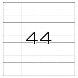 Herma 10821 Universal-Etiketten 4.83x2.54 cm (100 Blatt