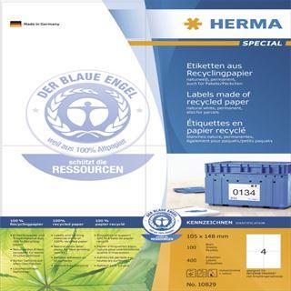 Herma 10829 Universal-Etiketten 10.5x14.8 cm (100 Blatt (400 Etiketten))