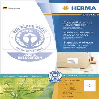 Herma 10830 Adressetiketten 19.96x14.35 cm (100 Blatt (200 Etiketten))