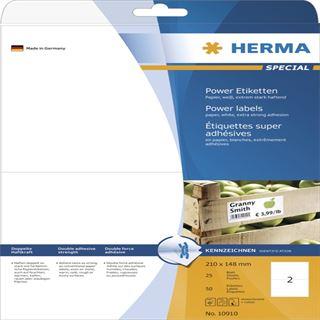 Herma 10910 extrem stark haftend Universal-Etiketten 21x14.8 cm (25