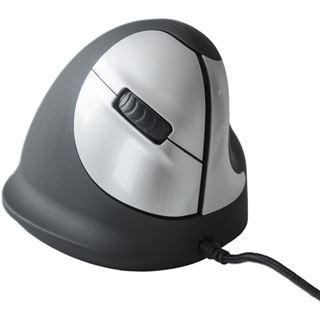 R-GO Tools Ergo Vertical rechts USB schwarz/silber (kabelgebunden)