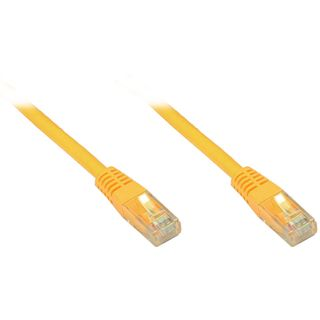 1.00m Good Connections Cat. 6 Patchkabel U/UTP RJ45 Stecker auf RJ45 Stecker Gelb halogenfrei