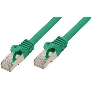 10.00m Good Connections Cat. 7 S/FTP PiMF RJ45 Stecker auf RJ45 Stecker Grün halogenfrei