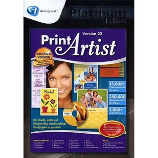 Avanquest Print Artist 22 - Platinum Edition 32/64 Bit Deutsch Grafik